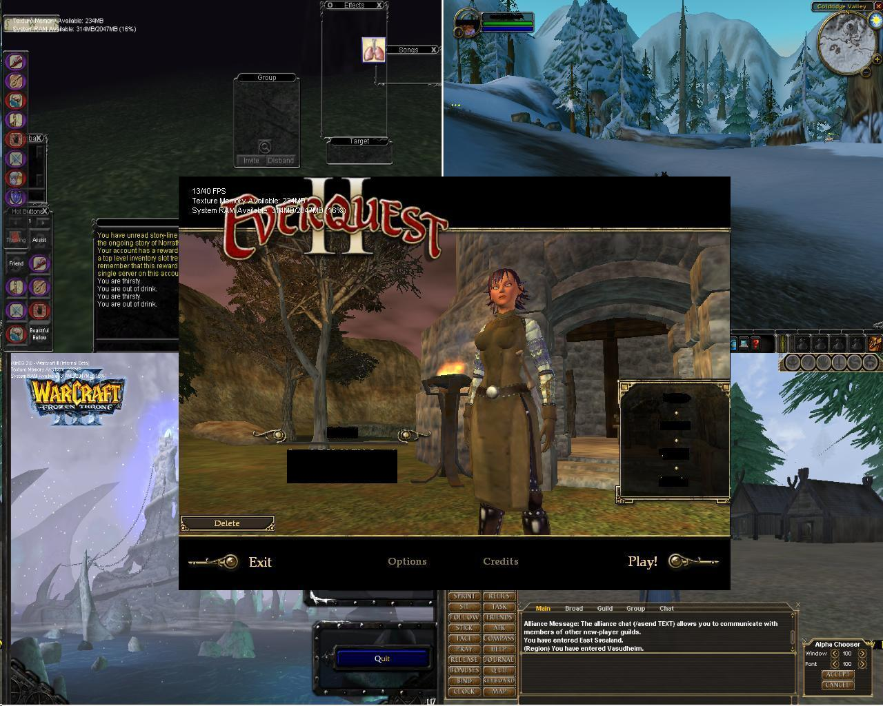 WinEQ - everquest, world of warcraft, warcraft, daoc, dark age of camelot - Play multiple MMORPG characters with pic-in-pic and more!